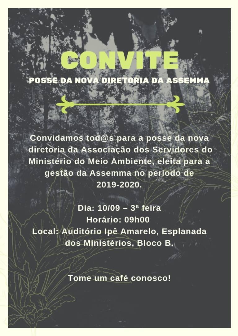 convite posse diretoria